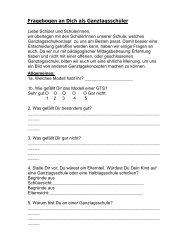 Fragebogen an Dich als Ganztagsschüler