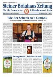 pdf-Ansicht Bräuhauszeitung, 2/2013 - Schlossbrauerei Stein