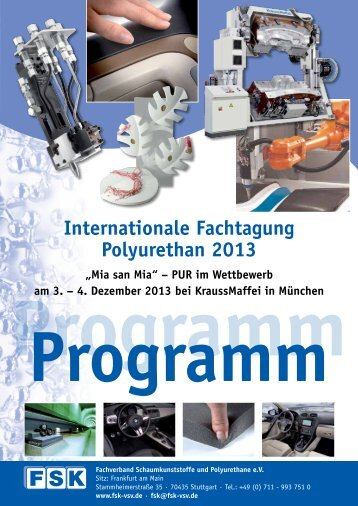 Internationale Fachtagung Polyurethan 2013 - FSK