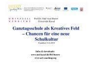 Ganztagsschule als Kreatives Feld - Ganztägig Lernen - Hessen