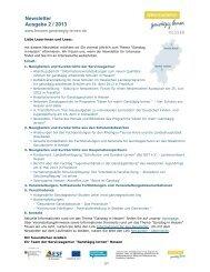 Newsletter Ausgabe 2 / 2013 - Ganztägig Lernen