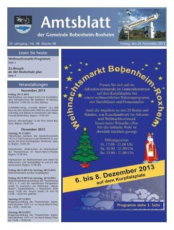 Amtsblatt - Gemeinde Bobenheim-Roxheim