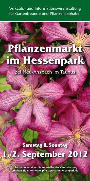 Pflanzenmarkt im Hessenpark