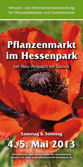 Pflanzenmarkt im Hessenpark 4./5. Mai 2013