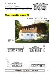 Blockhaus-Bungalow 88 - Blockhaus Barth