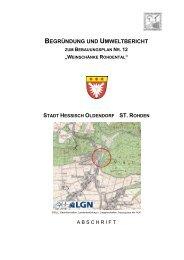 BEGRÜNDUNG UND UMWELTBERICHT - Stadt Hessisch Oldendorf
