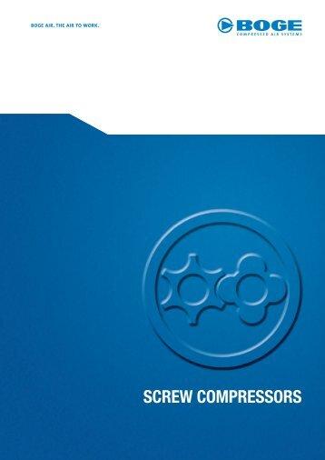 SCREW COMPRESSORS - Boge Kompressoren