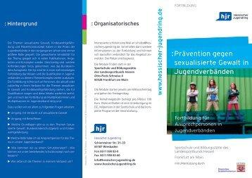 Flyer - Hessischer Jugendring