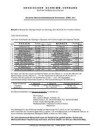 Bena DMS OL LL EK 2011 - Hessischer Schwimm-Verband eV