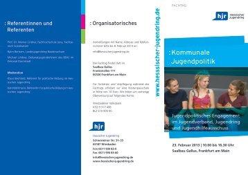 Fachtag Kommunale Jugendpolitik - Hessischer Jugendring