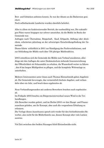 Mühlengickel - Hessischer Landesverein zur Erhaltung und Nutzung ...
