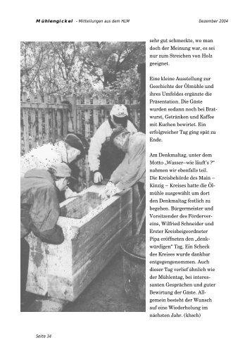8 - Hessischer Landesverein zur Erhaltung und Nutzung von Mühlen