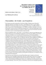 (HLM) eV Wassermühlen: Alte Technik –neue Perspektiven
