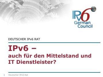 IPv6 – auch  für den Mittelstand und IT Dienstleister? - BearingPoint