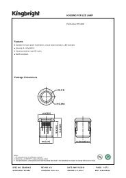 HOUSING FOR LED LAMP Features Package Dimensions