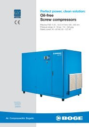Perfect Power, Clean Solution: Oil-free Screw Compressors