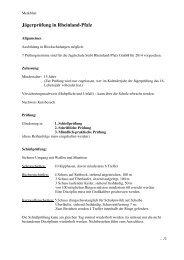 2014 Merkblatt Jägerprüfung in Rheinland - Landesjagdverband ...