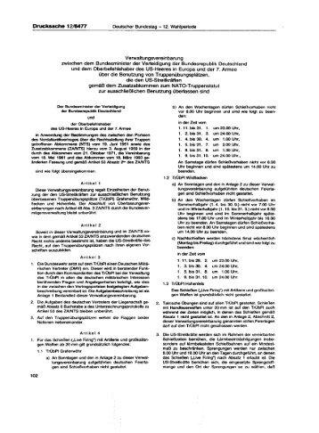 Verwaltungsvereinbarung zwischen dem Bundesminister der ...