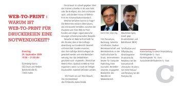 WEB-TO-PRINT : WARUM IST WEB-TO-PRINT FÜR - Printplus AG