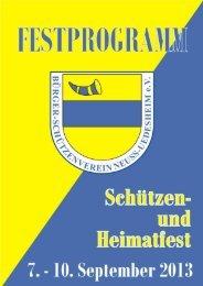 Download der Festschrift 2013 - Bürger-Schützenverein Neuss ...