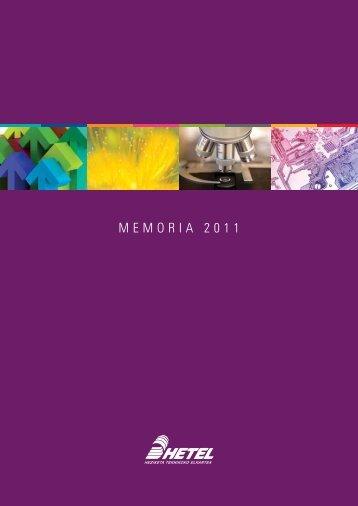 Memoria de actividades HETEL 2011