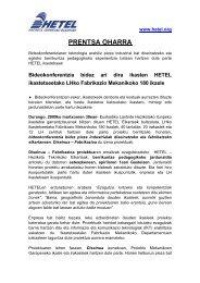 PRENTSA OHARRA - Hetel