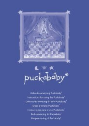 Gebruiksaanwijzing Puckababy® Instructions for using the ...