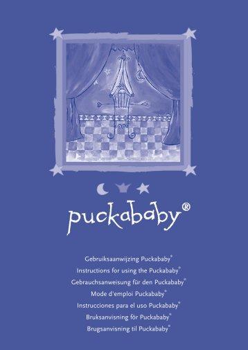 Gebruiksaanwijzing Puckababy® Instructions for using the ...