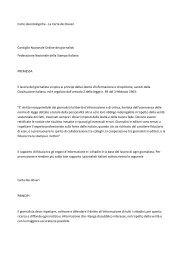 Carte deontologiche - La Carta dei Doveri Consiglio Nazionale ...