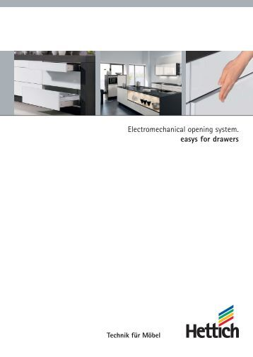 Catalogue Easys for drawers - Hettich