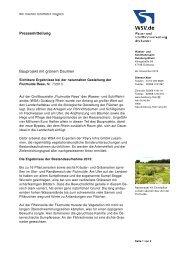 Bauprojekt mit grünem Daumen - WSV