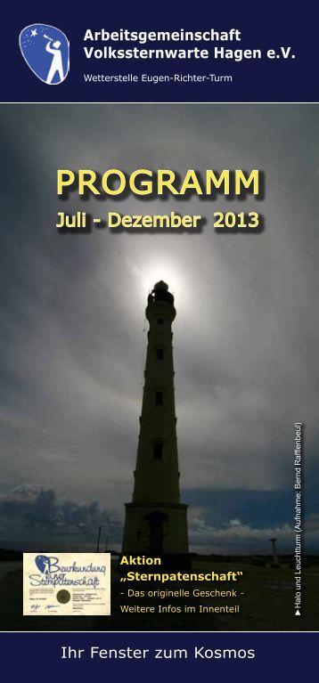 Unser aktuelles Programmheft - Volkssternwarte Hagen