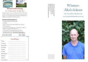 Winter- Aktivitäten