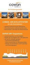 Informationsblatt Cowan Air Matratze und Schlafsystem