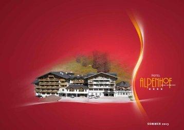 Prospekt als PDF downloaden - Hotel Alpenhof Zauchensee