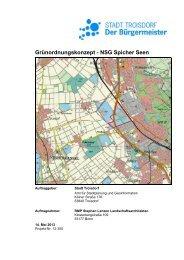 Fachgutachterliches Grünordnungskonzept Spicher ... - Stadt Troisdorf
