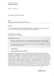 Amphibienleitwerk Dättwilerstrasse; Baukredit [PDF ... - Stadt Baden