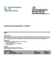 """Implementationsspezifikation """"AVGBS"""" - Amt für Raumentwicklung"""