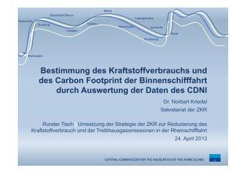 Bestimmung des Kraftstoffverbrauchs und des Carbon Footprint der ...