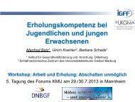 Arbeit und Erholung - Deutsches Netzwerk für betriebliche ...
