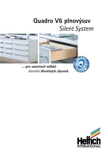 Quadro V6 plnovýsuv Silent System - Hettich