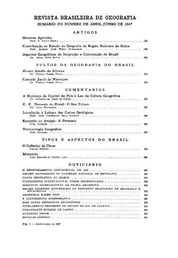 REVISTA BRASILEIRA DE GEOGRAFIA - Biblioteca do IBGE