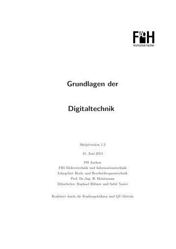 Grundlagen der Digitaltechnik - Ing. H. Heuermann - FH Aachen