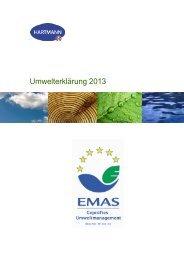 Umwelterklärung 2013 - Hartmann