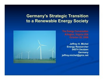 Germany's Strategic Transition to a Renewable Energy ... - Heuersdorf
