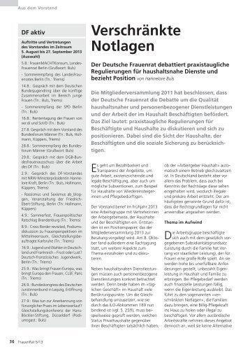Verschränkte notlagen - Deutscher Frauenrat