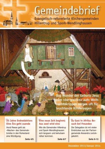 Dezember 2013/Januar 2014 - Kirchengemeinde Hillentrup