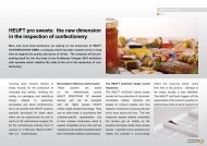 HEUFT pro sweets: the new dimension in the inspection ... - Heuft.com