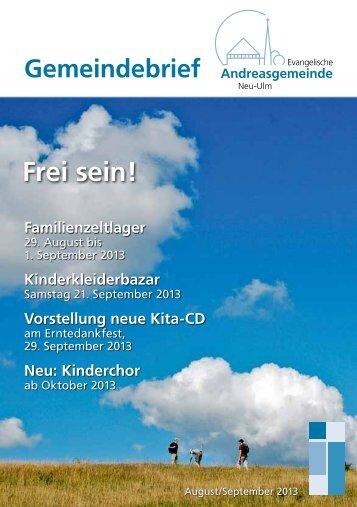 August/September 2013 - Andreasgemeinde - telebus.de