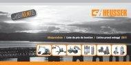 Mietpreisliste / Liste de prix de location / Listino ... - Carl Heusser AG